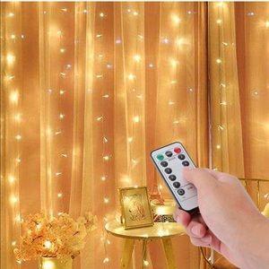 NEW warm white curtain light w remote
